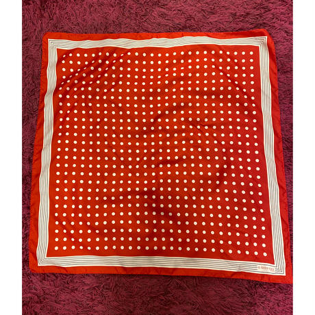 [USED] 柄物スカーフ/赤と水玉