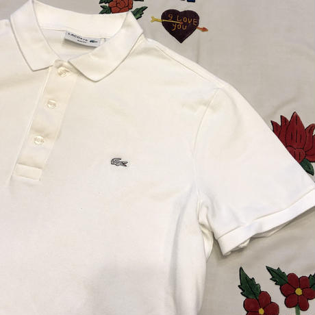 [USED] LACOSTE WHITE ポロ♡