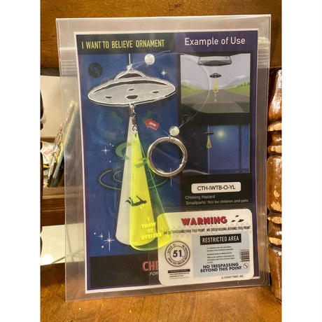 """[CHEAP TIME$]  """"I WANT TO BELIEVE"""" ORNAMENT"""