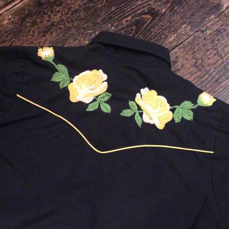 [USED] YELLOW FLOWER刺繍シャツ