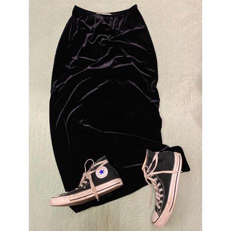 [USED]ブラックベロアスカート