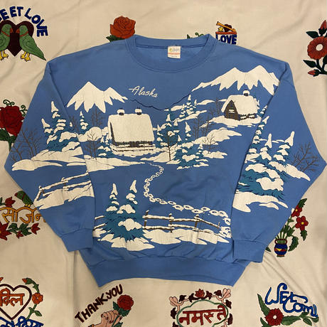 [USED] made in U.S.A. GOODプリントSWEAT ⛄️