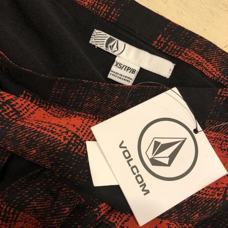 [DEADSTOCK] VOLCOM チェックのシフォンスカート