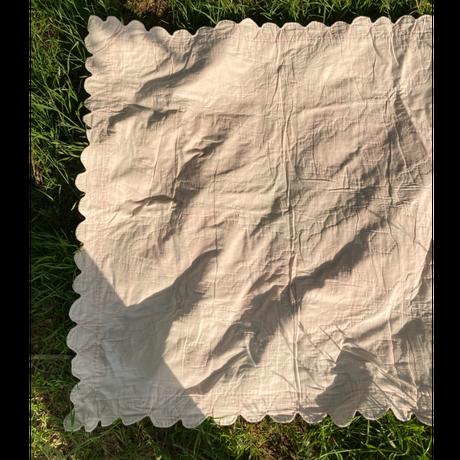 [USED] vintage  キルティング ラグ 110×110cm
