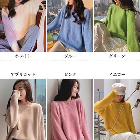 5Colorルーズラウンドネックセーター/ニット