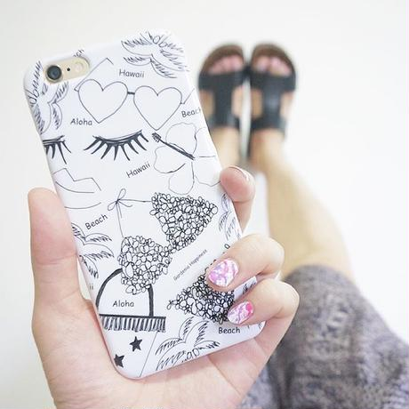 スマホケースAICA-54 Hawaiian Girl iPhone5/5s/SE/5c/6/6s/Android