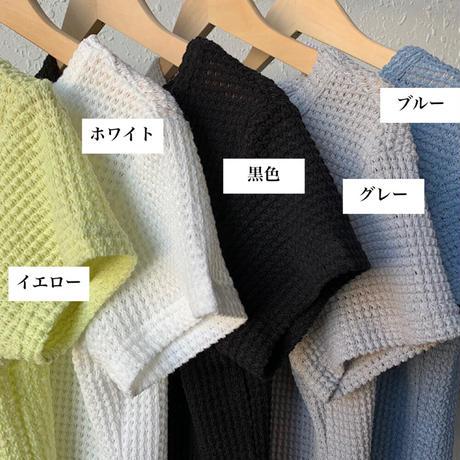 SU ワッフルボトミングTシャツ 5色
