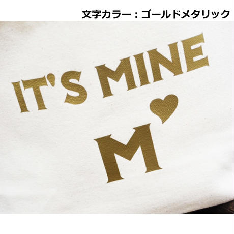 IT'S MINE×イニシャル トートバッグS 文字ゴールドメタリック