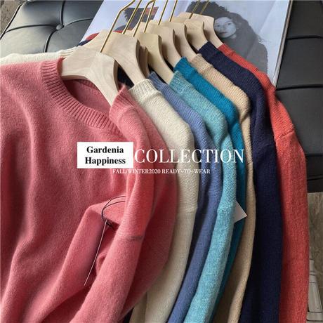 LL レアカラーウールブレンドニット/セーター 8色