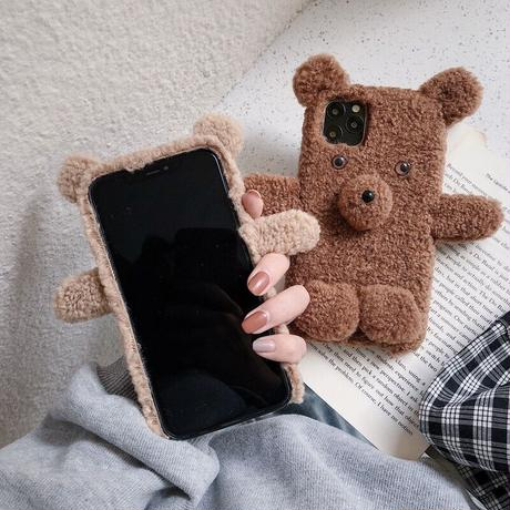 【即納あり】ボアベアスマホケース/iphone11-11ProMax