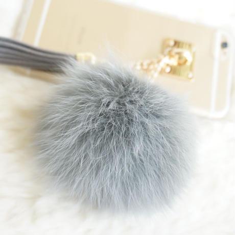 PonPon Gray &タッセル 透明スマホケースiphone6/6Plus/7/7Plus