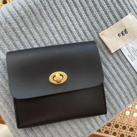 ゴールドxブラックフェイクレザーコイン&カードケース