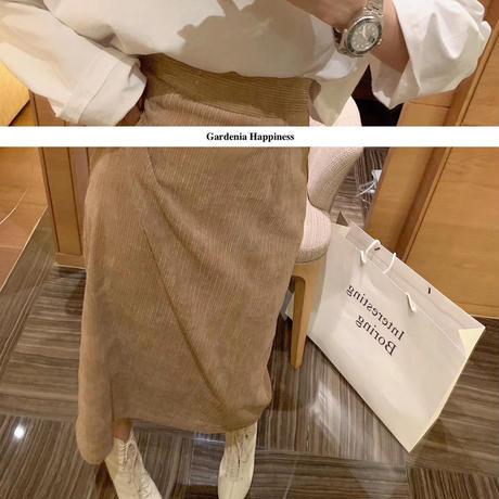 コーデュロイステップスカート 2色