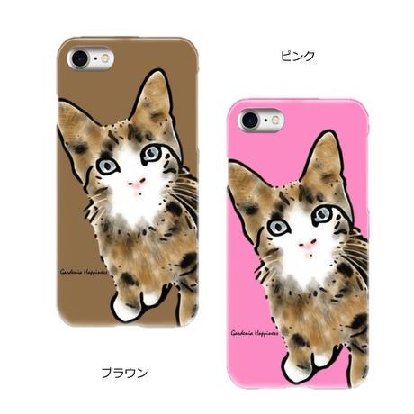 スマホケースAICA-89 子猫ちゃん(4カラー)  普通サイズ iPhone/他Android