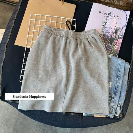 QK ワンポイントプリントニットスカートセットアップ 3色