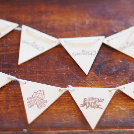 Wood Flag Garland