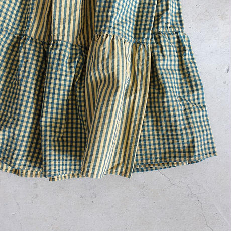 A09 GINGHAM TIERED SKIRT