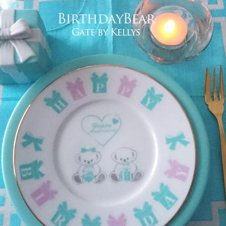 【セット割引3枚セット】A3サイズ★Anniversary Bear1周年記念転写紙/ベビーピンク