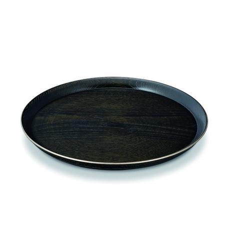 凛 10.0丸盆 黒拭漆