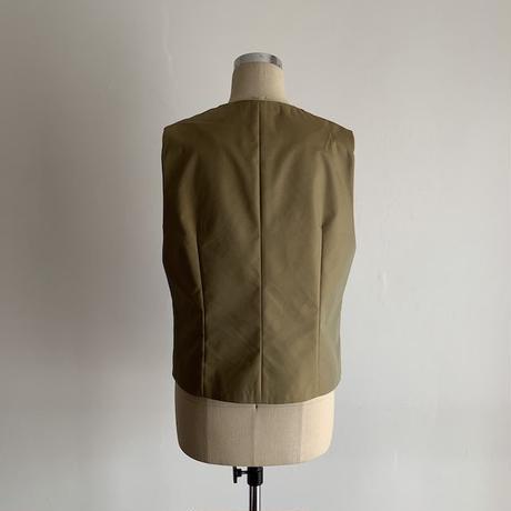 Hand Block Printed Classic Vest (Gray Stripe)