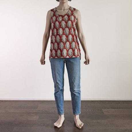 Hand Block Printed Anita Tank (Cotton Flower)