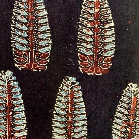 Hand Block Printed Short Kurta (Black Acanthus)