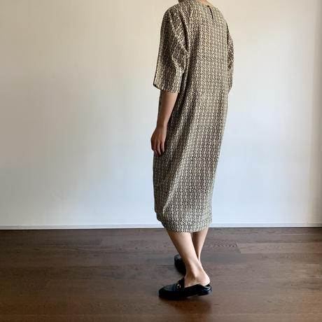 Hand Block Printed Dropped Shoulder Dress