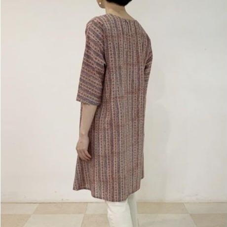 Sanganer Block Printed AT Dress (Stripe)