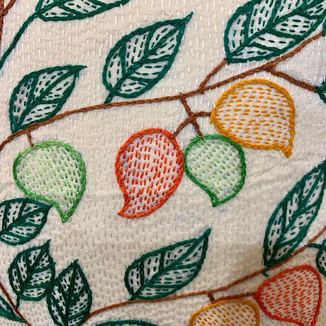 Sujini Cushion Cover 40*40 (Tree of life and lovers)