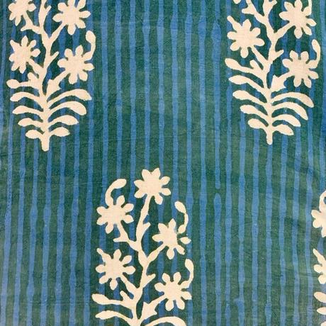 Hand Block Printed Short Kurta (Stripe & Flower)