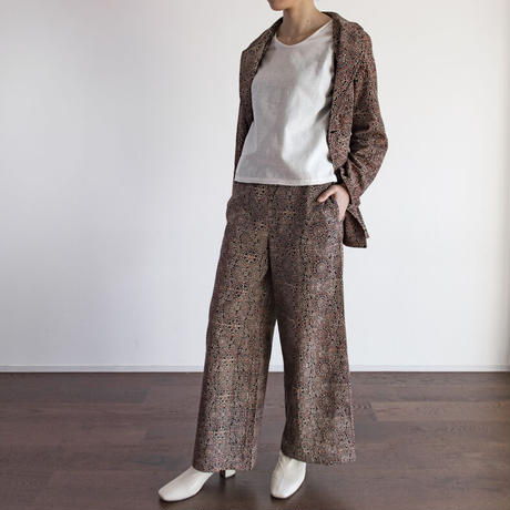 Hand Block Printed W Tailored Jacket (Ajrakh Brown Circle)