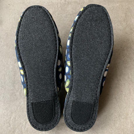 Hand Block Printed Slippers (Geometric Flower)