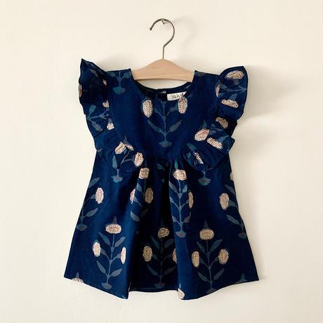 GAYA Renu, Frilly Dress (Indigo Marigold)