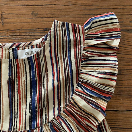 GAYA Renu, Frilly Dress (Colorful Stripe)