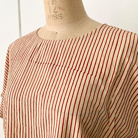 Hand Block Printed French Sleeves blouse