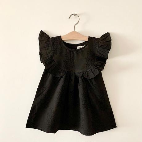 GAYA Renu, Frilly Dress (Black & Black Flower)