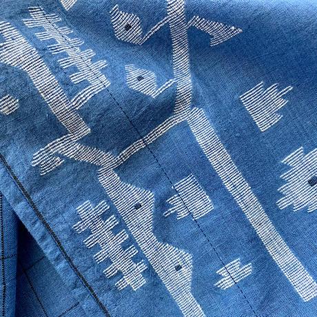 Jamdani Khadi Cotton Raglan Sleeve Jacket