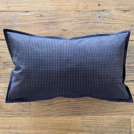 Hand Block Printed Cushion Cover 30*50 (Brown Check)