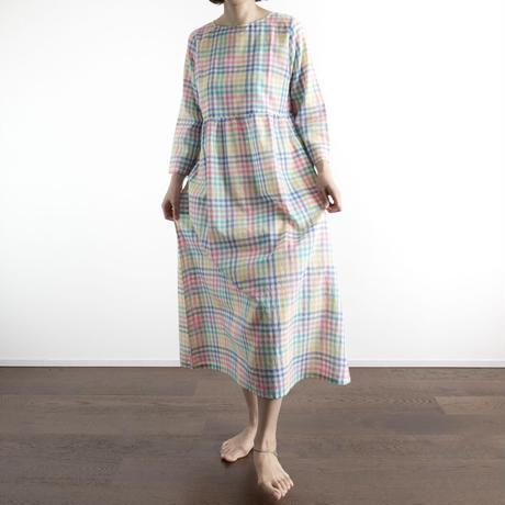 Khadi Cotton Dolly Maxi Dress (Rainbow)