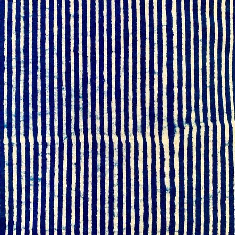 Hand Block Printed Short Kurta (Indigo Stripe)