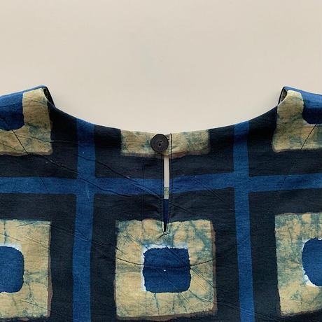 Hand Block Printed Mini Dress [Short]