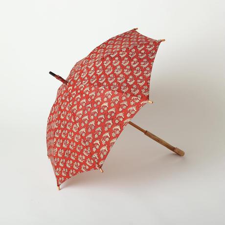 日傘(赤花柄)