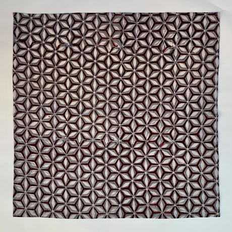 Hand Block Printed Handkerchief (Asanoha)
