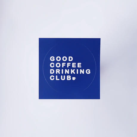 GCDC basic logo sticker_navy