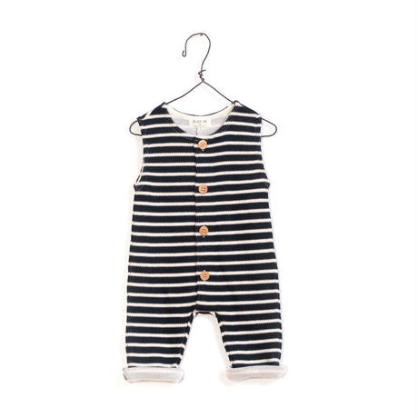 Play up (プレイアップ )  Striped Interlock Jumpsuit  1AF11501