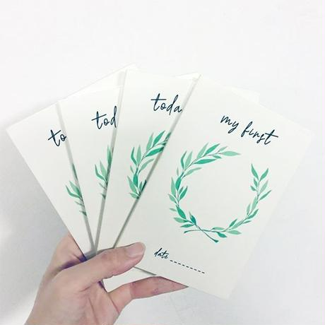 All4Ella (オールフォーエラ)  Personalised Milestone Cards(パーソナライズドマイルストーンカード)  ホワイト