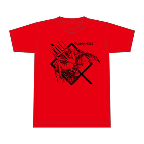 【QUADRANGLE】LUCIFER T-SHIRTS (RED)