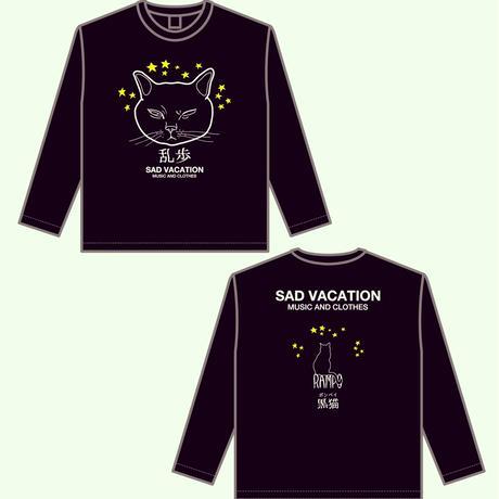 【SAD VACATION】 RAMPO ビッグシルエット ロングスリーブ Tシャツ