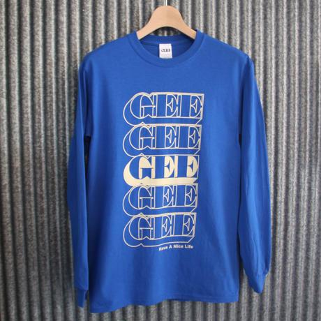 GEE ORIGINAL L/S T-SHIRTS / BLUE