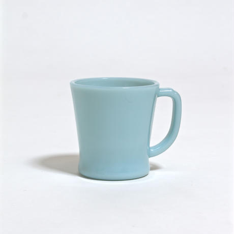 FIRE KING D HANDLE MUG / TURQUOISE BLUE